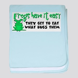 Frogs Have It Easy Infant Blanket