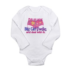 Big Girl Panties & Dea Long Sleeve Infant Bodysuit