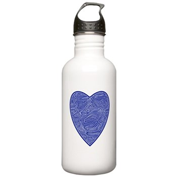 Blue Heart Stainless Water Bottle 1.0L