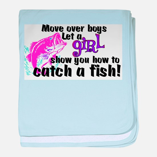 Move Over Boys - Fish baby blanket