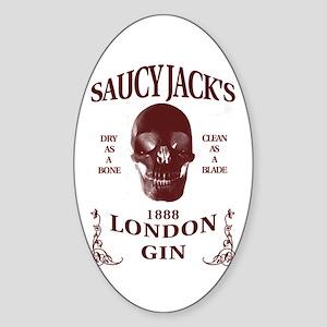 Saucy Jack's London Gin Sticker (Oval)