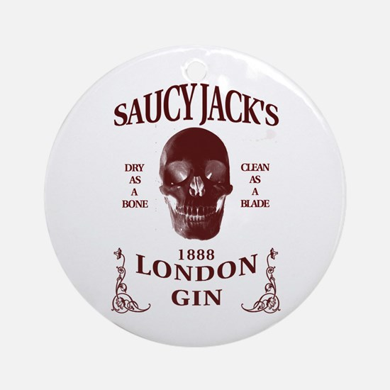 Saucy Jack's London Gin Ornament (Round)