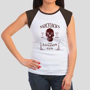 Saucy Jack's London Gin Women's Cap Sleeve T-Shirt