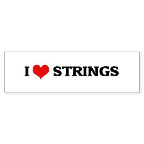 I Love Strings Bumper Sticker