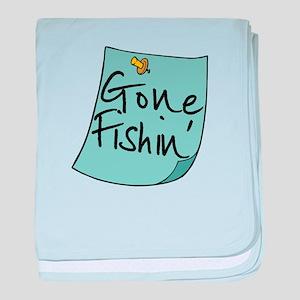 Gone Fishin' Note Infant Blanket