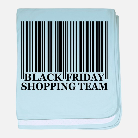 Black Friday Shopping Team baby blanket