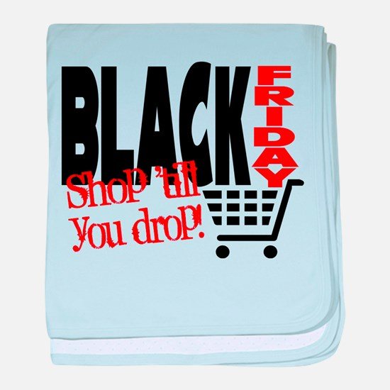 Black Friday Shopping Cart baby blanket