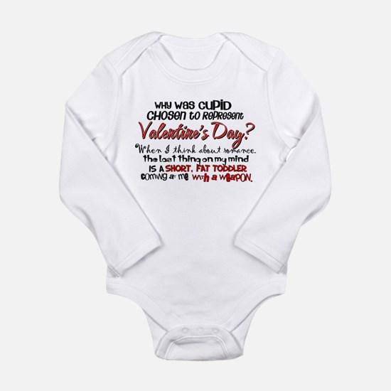 Why Was Cupid Chosen? Long Sleeve Infant Bodysuit