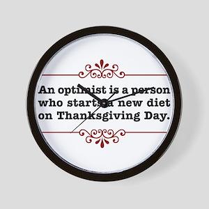Thanksgiving Day Optimist Wall Clock