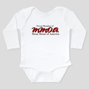 Mean Moms of America Long Sleeve Infant Bodysuit