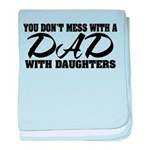 Dad with Daughters Infant Blanket