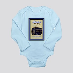 Books are weapons... Long Sleeve Infant Bodysuit