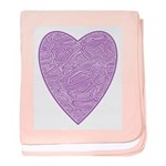 Purple Heart Infant Blanket