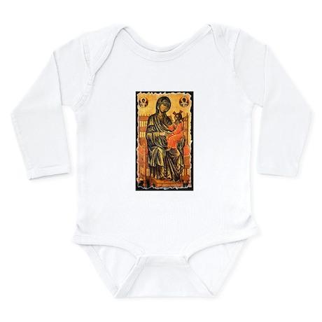 Byzantine Madonna Long Sleeve Infant Bodysuit