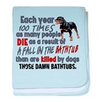 Killer Bathtubs baby blanket