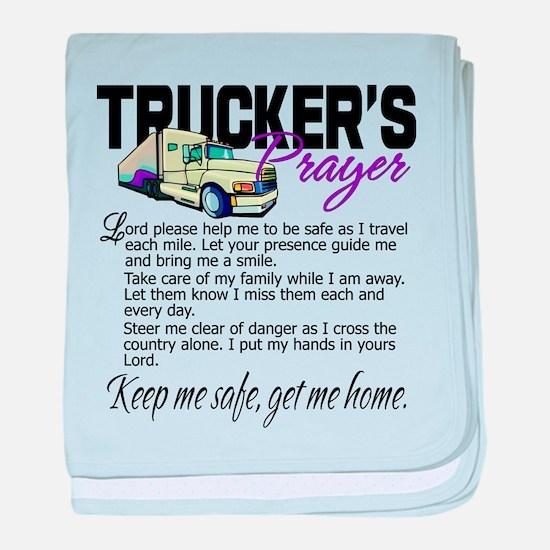 Trucker's Prayer baby blanket