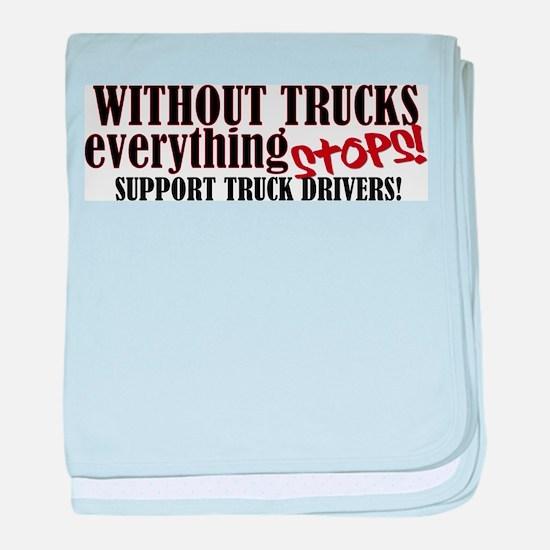 Trucker Support baby blanket