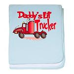 Daddys Lil' Trucker baby blanket