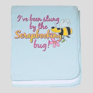 Scrapbooking Bug baby blanket