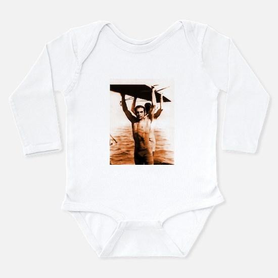 Rudolph Valentino Bronzed Swi Long Sleeve Infant B