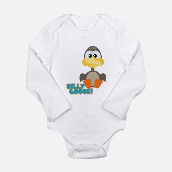 Goofkins Silly Silly Goose Long Sleeve Infant Body