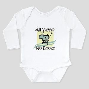 No Booze Long Sleeve Infant Bodysuit