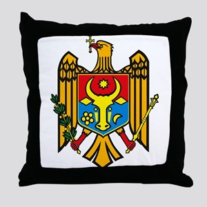 Moldova Coat of Arms Throw Pillow