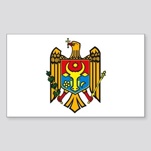 Moldova Coat of Arms Rectangle Sticker