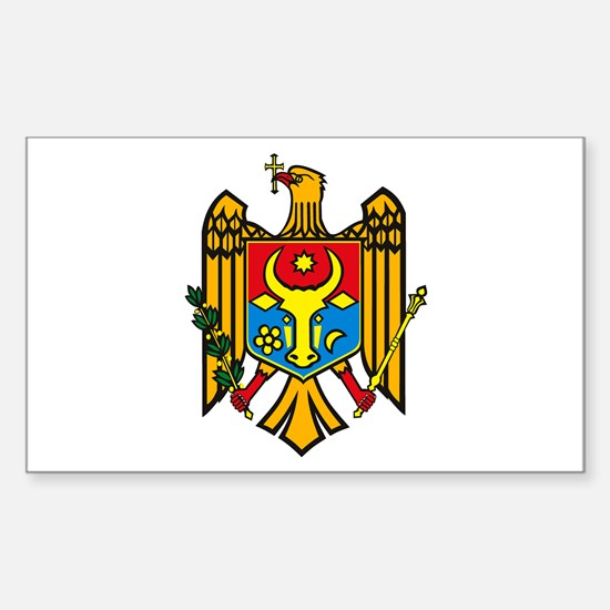 Moldova Coat of Arms Rectangle Decal