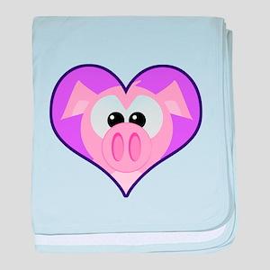 Cute Goofkins Piggy in Heart Infant Blanket