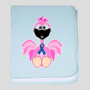 Blue Awareness Ribbon Goofkin Infant Blanket