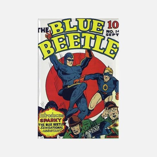 $4.99 Classic Blue Beetle Magnet