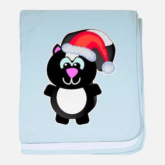 Cute Skunk Santa Claus Infant Blanket