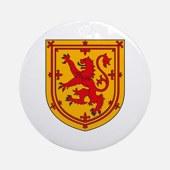 Scottish Coat of Arms Ornament (Round)