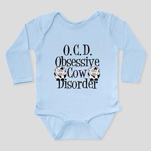 Obsessive Cow Disorder Long Sleeve Infant Bodysuit