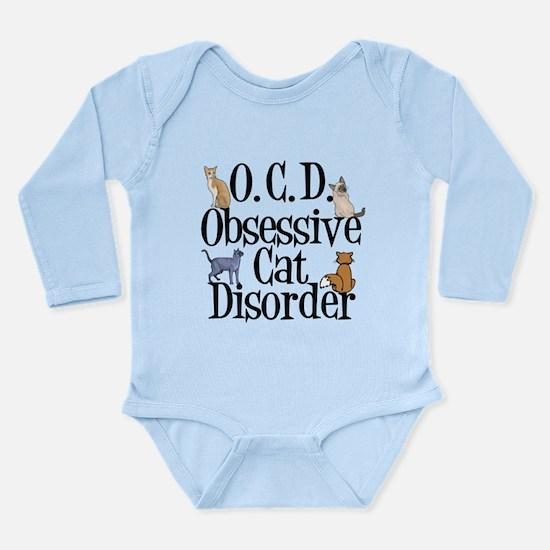 Obsessive Cat Disorder Long Sleeve Infant Bodysuit