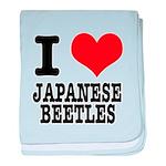 I Heart (Love) Japanese Beetl Infant Blanket