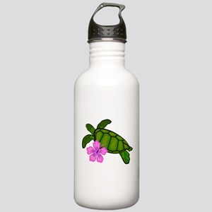 Colored Sea Turtle Hibiscus Stainless Water Bottle