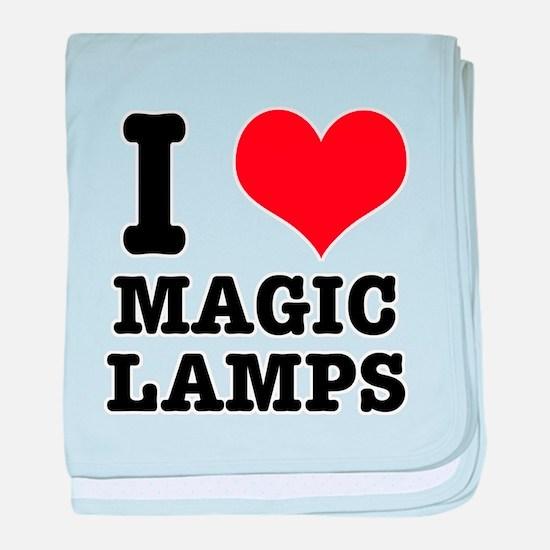I Heart (Love) Magic Lamps Infant Blanket