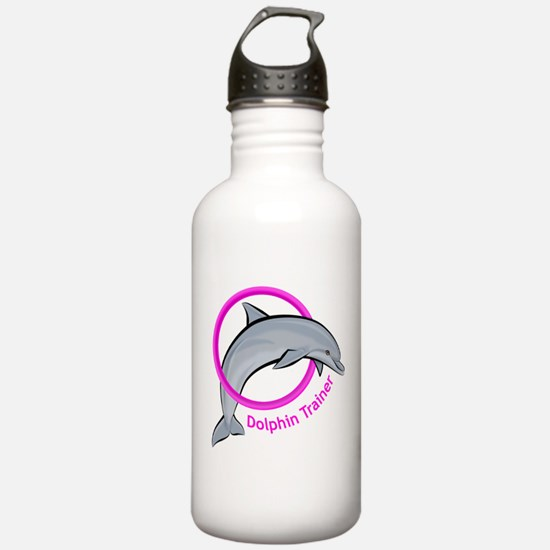 Dolphin Trainer Pink Water Bottle