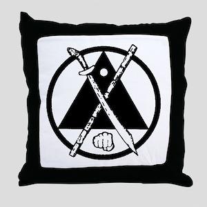 Escrima/Arnis logo Throw Pillow