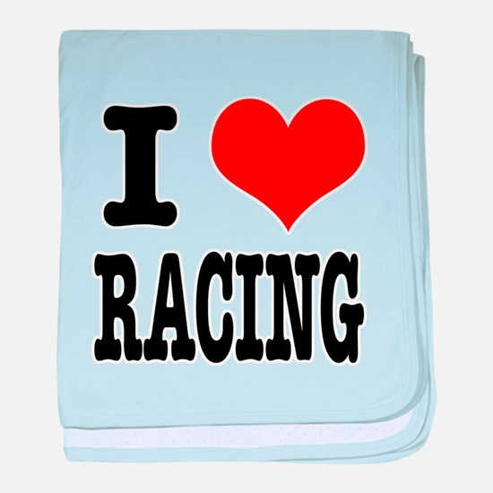 I Heart (Love) Racing Infant Blanket