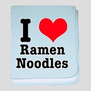 I Heart (Love) Ramen Noodles Infant Blanket