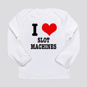 I Heart (Love) Slot Machines Long Sleeve Infant T-