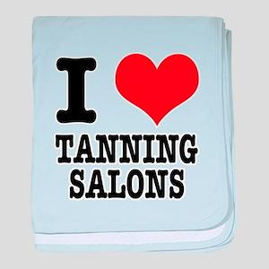 I Heart (Love) Tanning Salons Infant Blanket