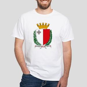 Malta Coat of Arms White T-Shirt