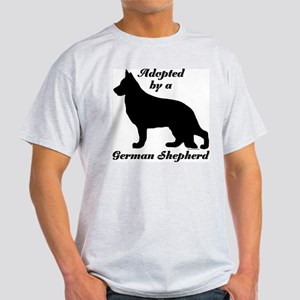 ADOPTED by German Shepherd Light T-Shirt