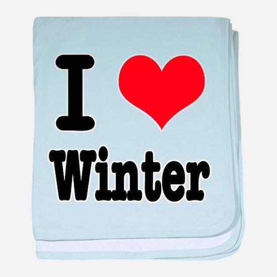 I Heart (Love) Winter Infant Blanket