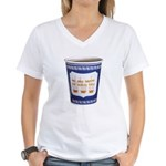 NYC Coffee Cup Women's V-Neck T-Shirt