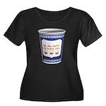 NYC Cup Women's Plus Size Scoop Neck Dark T-Shirt